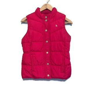 Old Navy Girls Pink Puffer Outdoor Vest